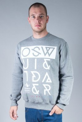OUTSIDEWEAR CREWNECK CROOKED GREY