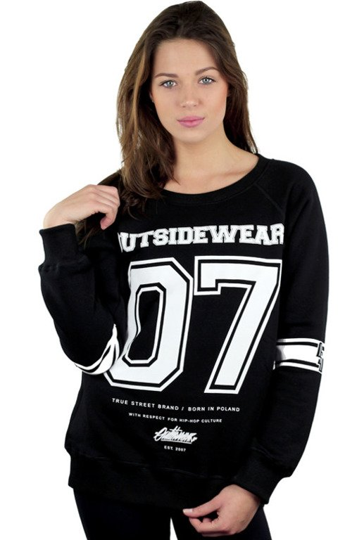 OUTSIDEWEAR CREWNECK WOMAN 07 BLACK