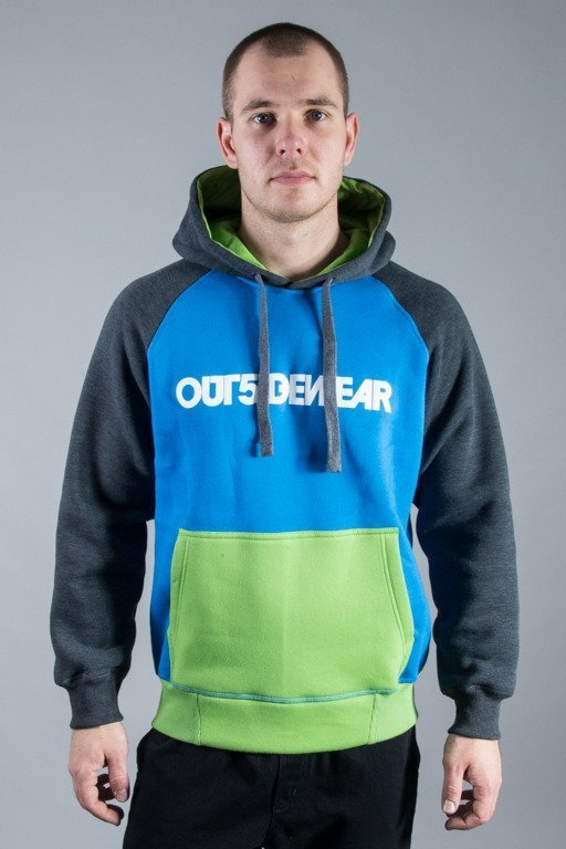 OUTSIDEWEAR HOODIE 3COLORS BLUE-GREEN