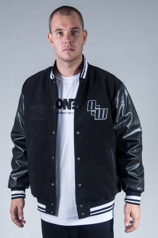 OUTSIDEWEAR JACKET BASEBALL VARSITY BLACK