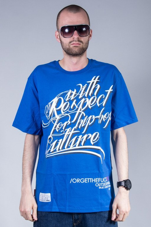 OUTSIDEWEAR T-SHIRT RESPECT BLUE