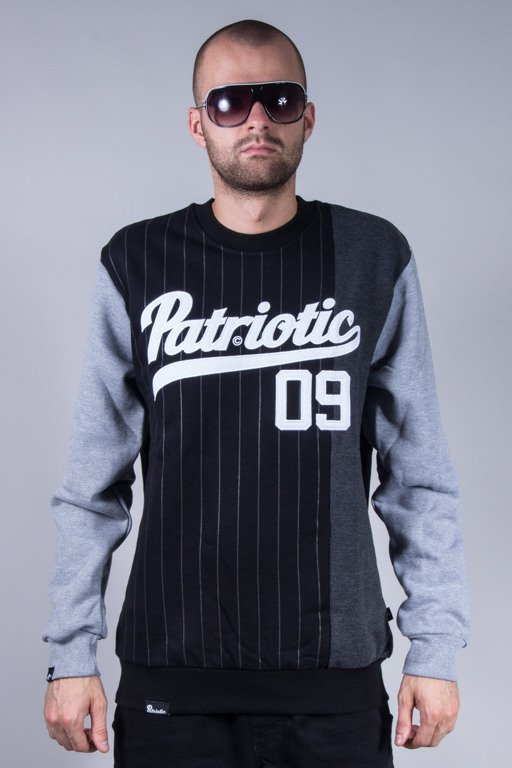 PATRIOTIC CREWNECK ATHLETIC BLACK