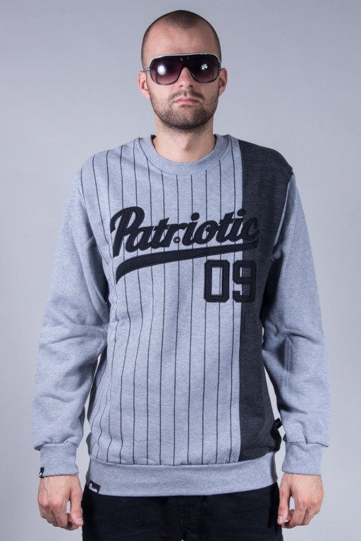 PATRIOTIC CREWNECK ATHLETIC GREY