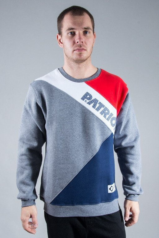 PATRIOTIC CREWNECK CUT GREY