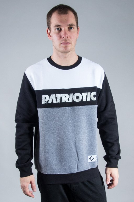 PATRIOTIC CREWNECK FF FONTS GREY-BLACK-WHITE