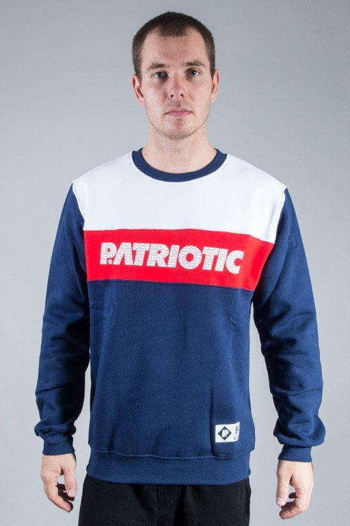 PATRIOTIC CREWNECK FF FONTS NAVY-WHITE-RED