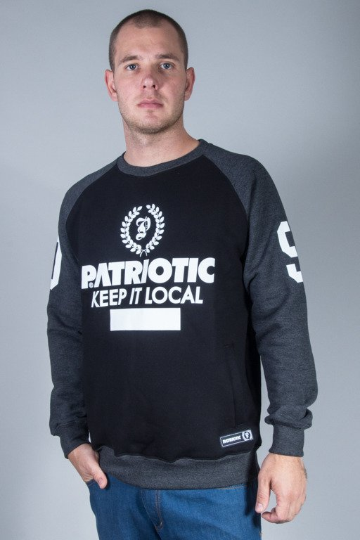 PATRIOTIC CREWNECK P LAUR BLACK-GRAFIT