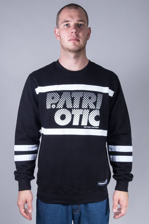 PATRIOTIC CREWNECK PARTICLES BLACK