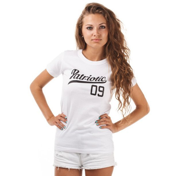 PATRIOTIC GIRL KOSZULKA ATHLETIC WHITE