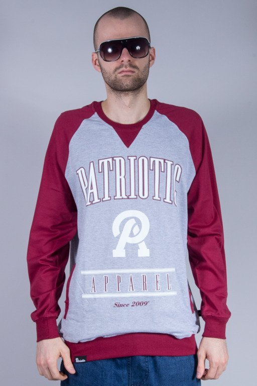 PATRIOTIC LONGSLEEVE  APPAREL GREY-BURGUND