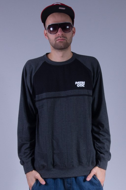 PATRIOTIC LONGSLEEVE FOOTBALL GREY-BLACK