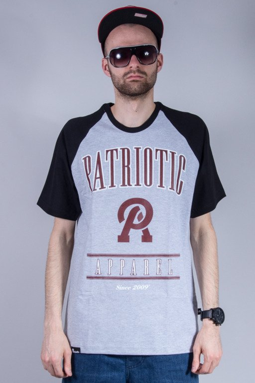 PATRIOTIC T-SHIRT APPAREL GREY-BURGUND