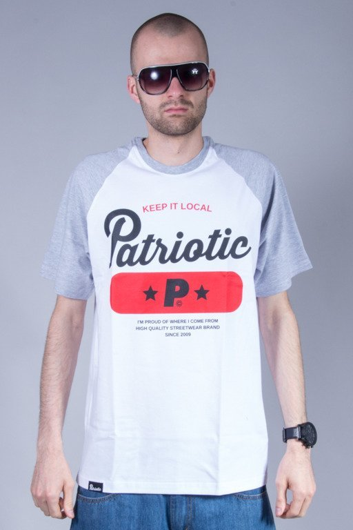 PATRIOTIC T-SHIRT BASE WHITE-GREY