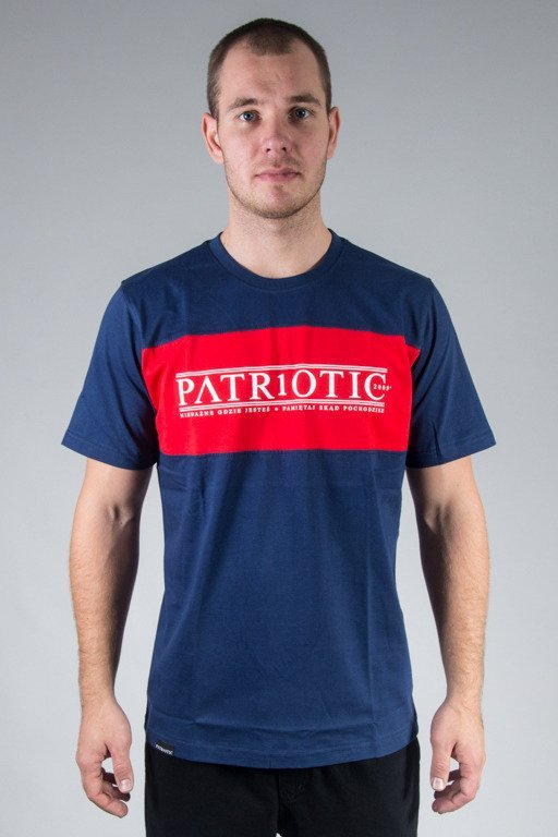 PATRIOTIC T-SHIRT GREEK NAVY-RED