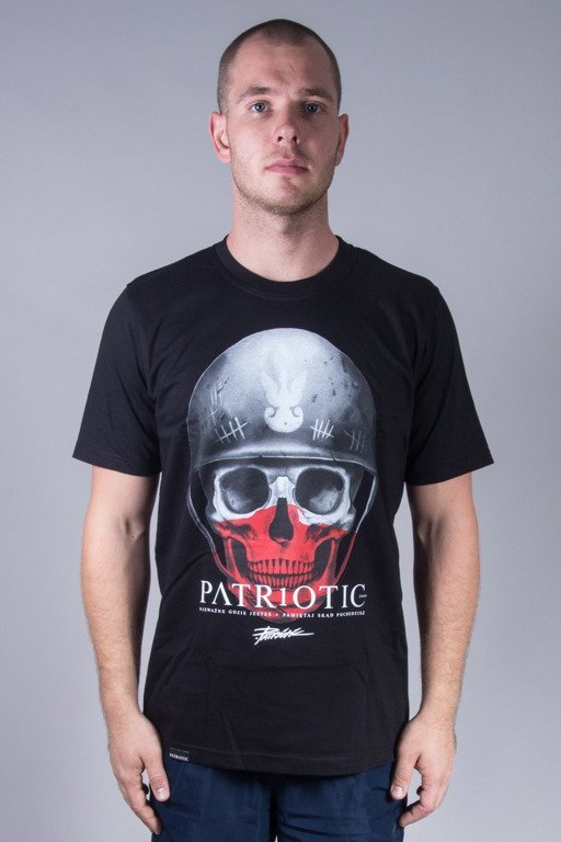 PATRIOTIC T-SHIRT SKULL NEW BLACK