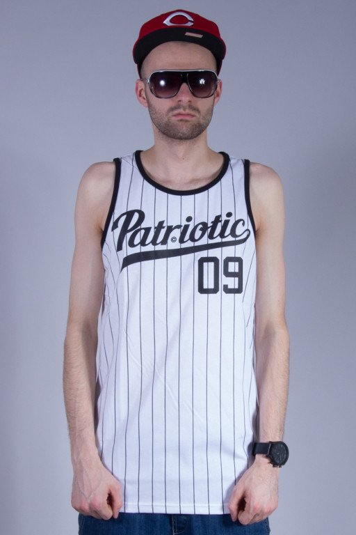 PATRIOTIC TANK TOP ATHLETIC WHITE