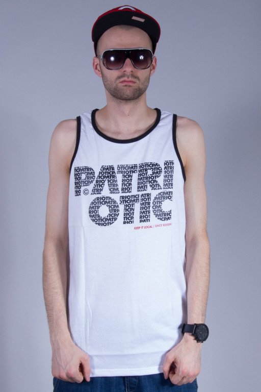 PATRIOTIC TANK TOP CLS FONTS WHITE