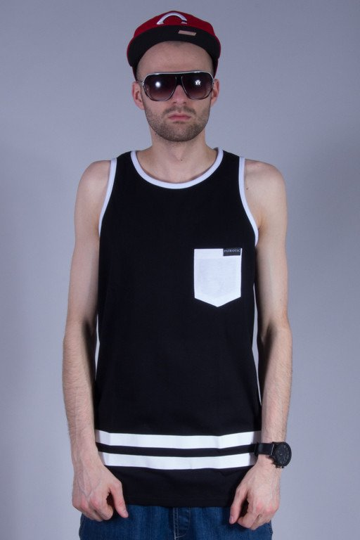 PATRIOTIC TANK TOP FUTURE 10 FONTS BLACK