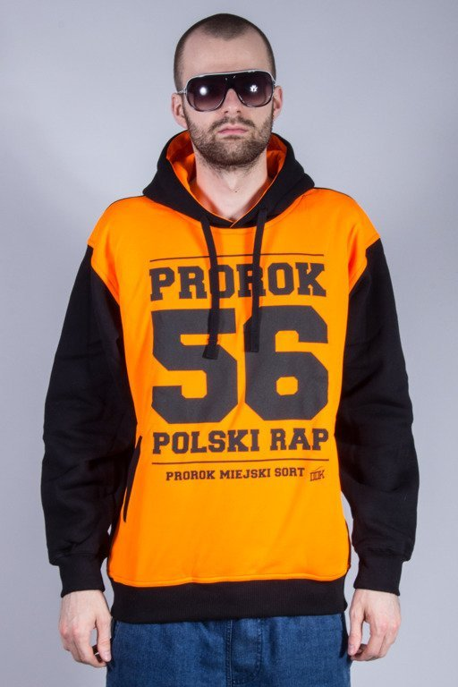 PROROK 56 BLUZA Z KAPTUREM PROROK56 TOXIC ORANGE