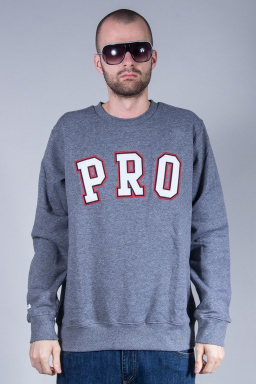 PROSTO BLUZA BEZ KAPTURA LIKE A PRO GREY
