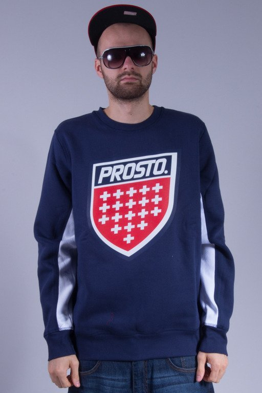 PROSTO BLUZA BEZ KAPTURA SHIELD NAVY