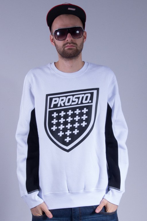 PROSTO BLUZA BEZ KAPTURA SHIELD WHITE