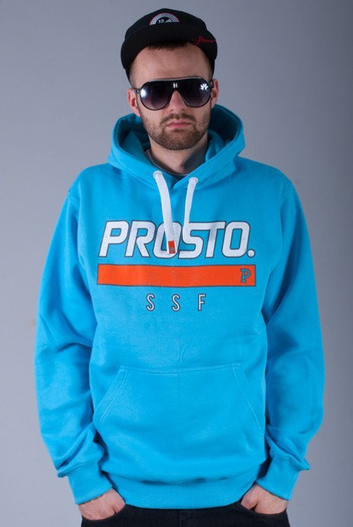 PROSTO BLUZA Z KAPTUREM DESTROYED LIGHT BLUE