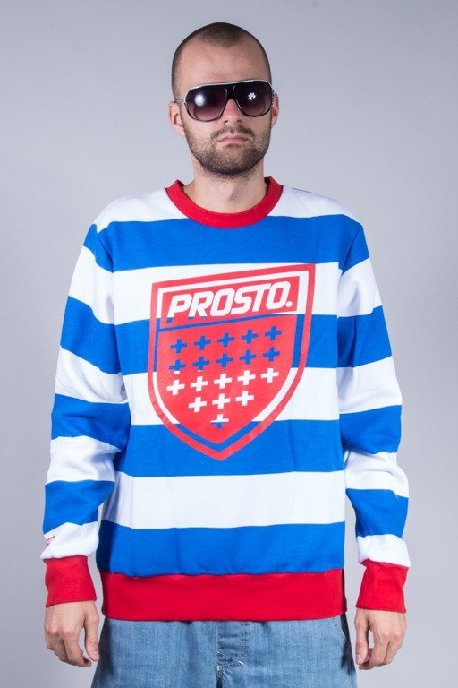 PROSTO CREWNECK PRISONER WHITE-BLUE
