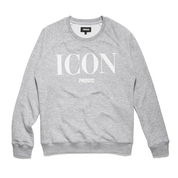 PROSTO CREWNECK WOMAN ICON CAMPBELL GREY
