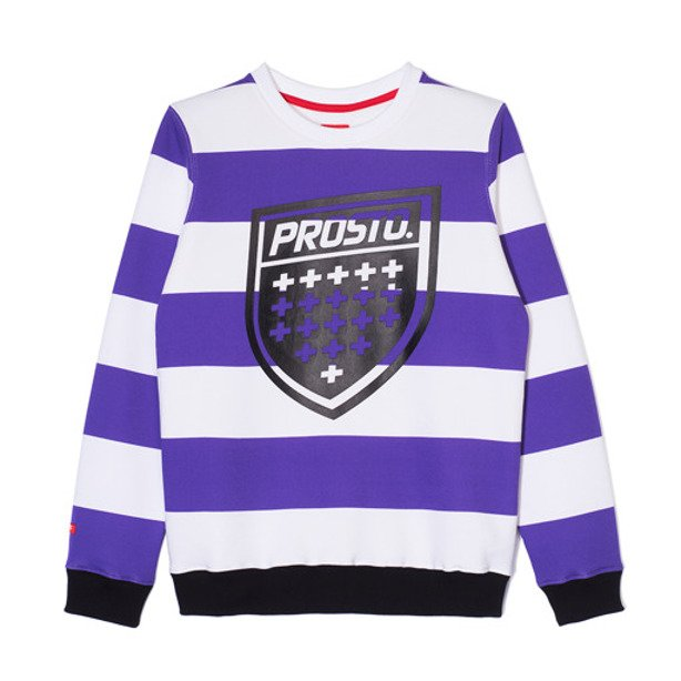 PROSTO CREWNECK WOMAN PIRATE VIOLET