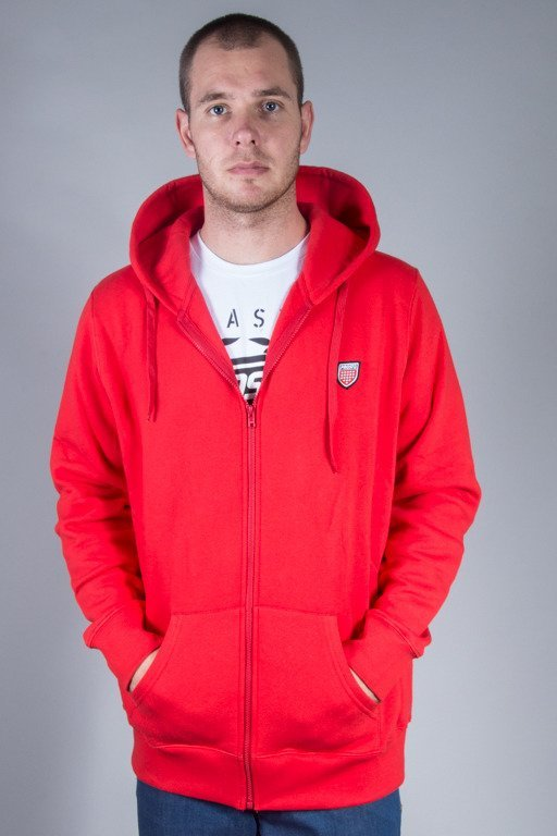 PROSTO CREWNECK ZIP BASIC RED