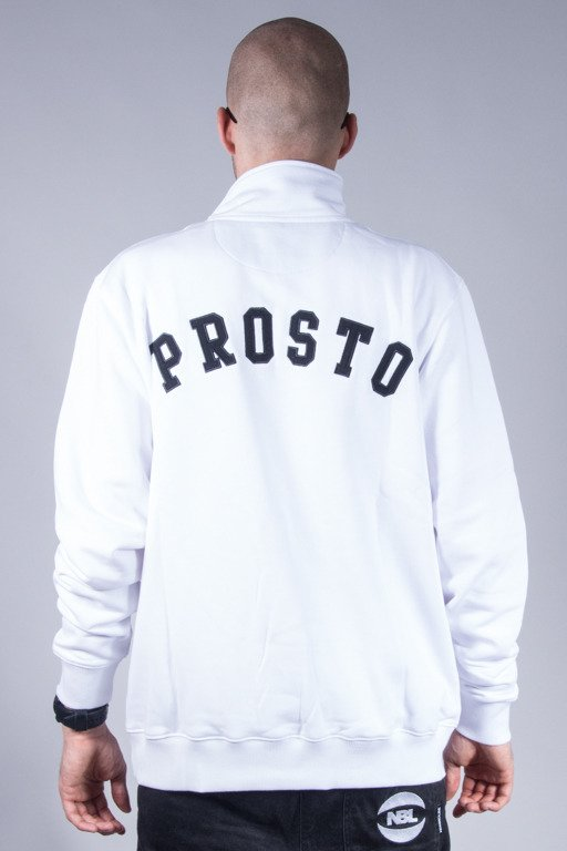 PROSTO CREWNECK ZIP PARISAN WHITE