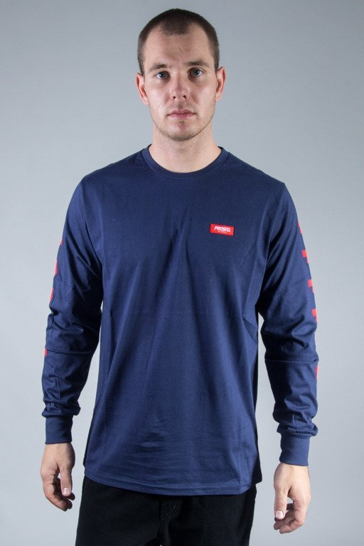 PROSTO LONGSLEEVE CROSSES NAVY