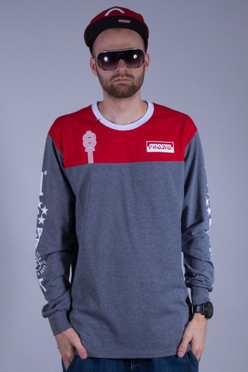 PROSTO LONGSLEEVE ENDURO RED-GREY