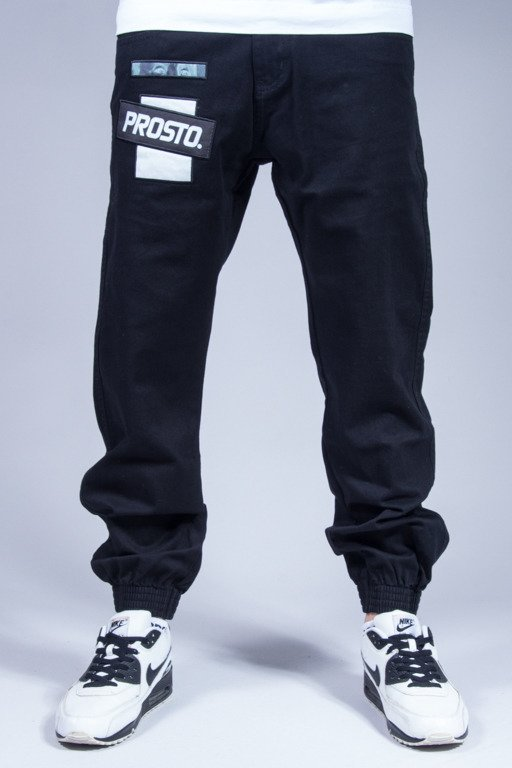 PROSTO PANTS CHINO JOGGER CONTACT BLACK