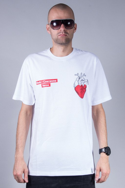 PROSTO T-SHIRT HEART WHITE