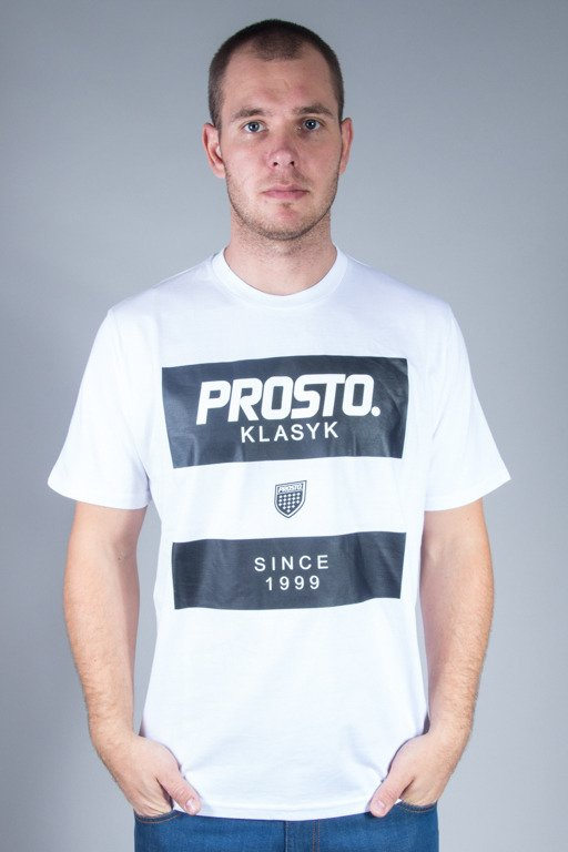 PROSTO T-SHIRT STRIPES WHITE