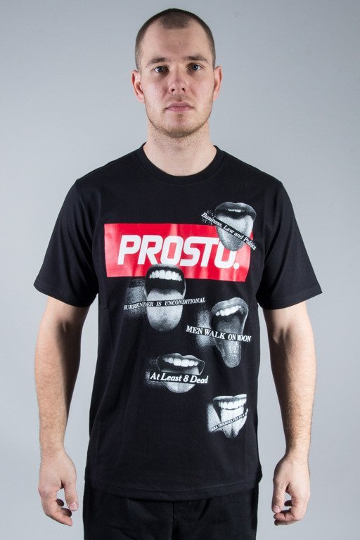 PROSTO T-SHIRT THEY SAY BLACK