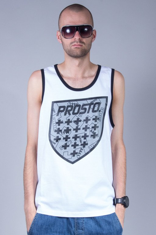 PROSTO TANK TOP BACKGROUND WHITE