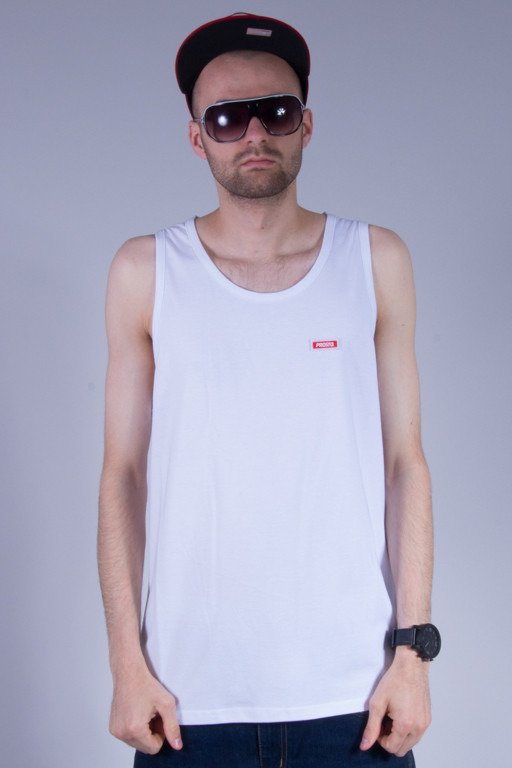 PROSTO TANK TOP LOOSE WHITE
