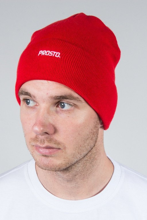 PROSTO WINTER CAP BASIC RED