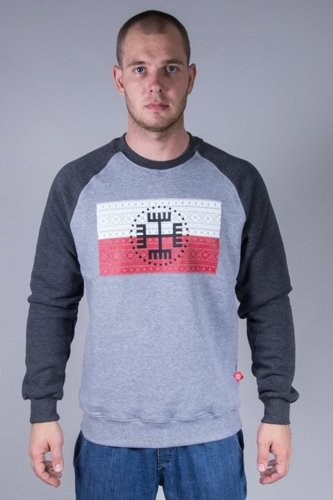 SLAVA REPUBLIC CREWNECK FLAGA RĘKA BOGA GREY