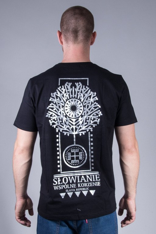 SLAVA REPUBLIC T-SHIRT ROOTS BLACK