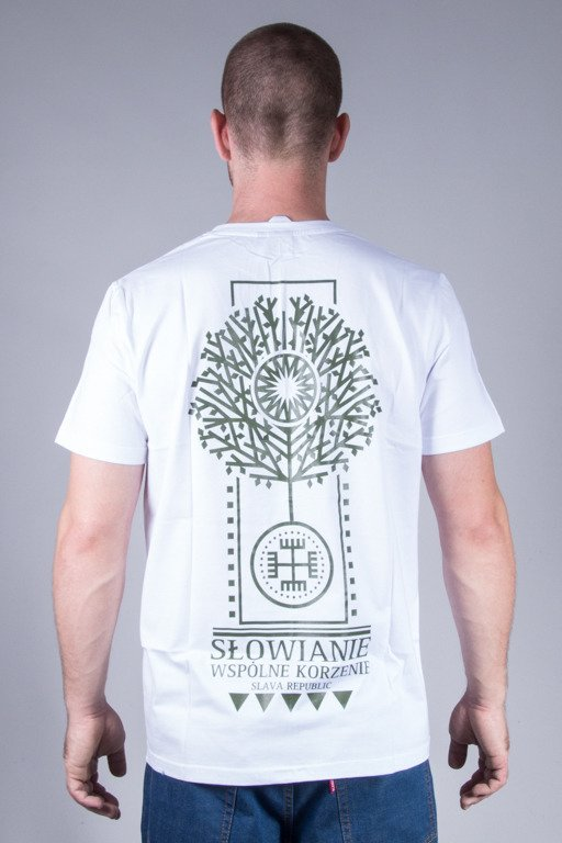 SLAVA REPUBLIC T-SHIRT ROOTS WHITE
