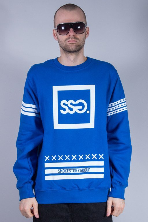 SSG BLUZA BEZ KAPTURA SQUARE BLUE