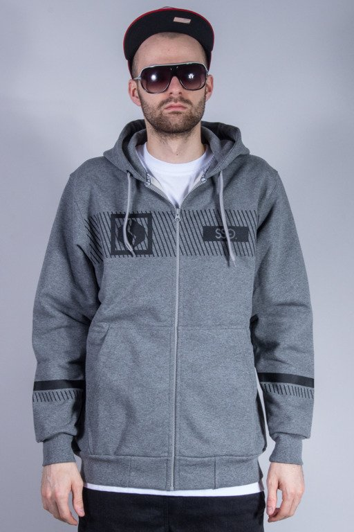 SSG BLUZA Z KAPTUREM ZIP MULTI LINES GREY