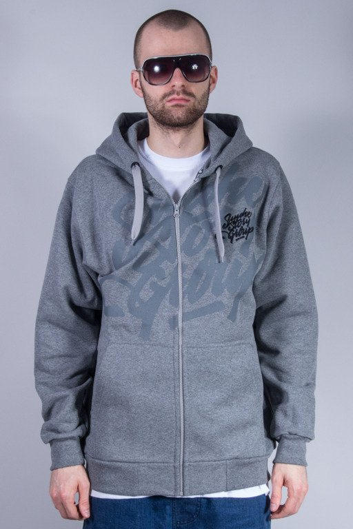 SSG BLUZA Z KAPTUREM ZIP SMG TAG GREY