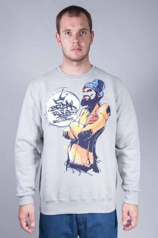 SSG CREWNECK ART BREAK RULES MELANGE