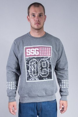 SSG CREWNECK STAR RED GREY