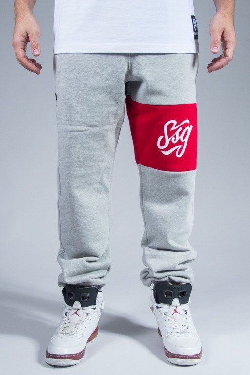 SSG SWEATPANTS COLORS LINE REGULAR MELANGE-RED